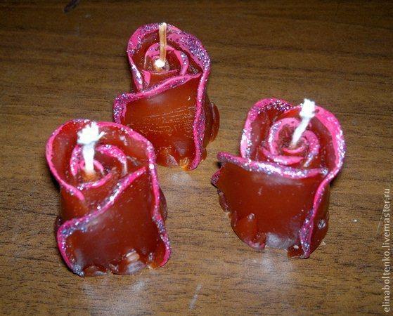 Магическая свеча Роза любви - бутон