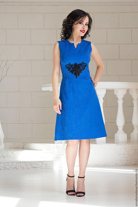 d5e025053a2 Платья ручной работы. Ярмарка Мастеров - ручная работа. Купить  Синее  -  платье ...