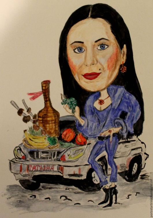 Люди, ручной работы. Ярмарка Мастеров - ручная работа. Купить Портрет и шарж на заказ. Handmade. Комбинированный, шарж по фото
