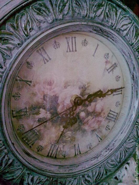 Часы для дома ручной работы. Ярмарка Мастеров - ручная работа. Купить Интерьерные часы Очарование. Handmade. Декупаж, шебби-шик