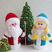 Подарки к праздникам ручной работы. Ярмарка Мастеров - ручная работа Новогодний набор интерьерных вязаных игрушек. Handmade.