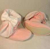 Обувь ручной работы handmade. Livemaster - original item Slippers-boots Bunnies with bows. Handmade.