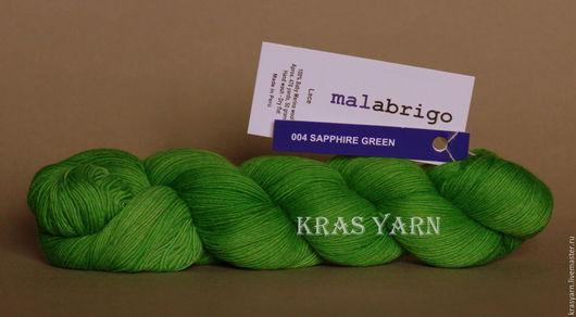 Вязание ручной работы. Ярмарка Мастеров - ручная работа. Купить Пряжа Malabrigo Lace цвет 004 Sapphire green. Handmade.