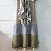 Одежда ручной работы. Ярмарка Мастеров - ручная работа Льняное летнее платье (вязаное). Handmade.