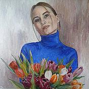 Картины и панно handmade. Livemaster - original item Paintings: portrait by photo. Handmade.