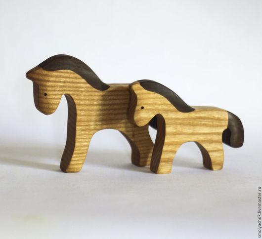 Игрушки животные, ручной работы. Ярмарка Мастеров - ручная работа. Купить Конь и жеребёнок. Handmade. Конь, лошадки, деревянная игрушка