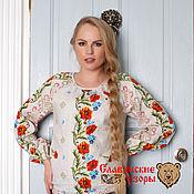 Одежда handmade. Livemaster - original item Cotton blouse in folk style