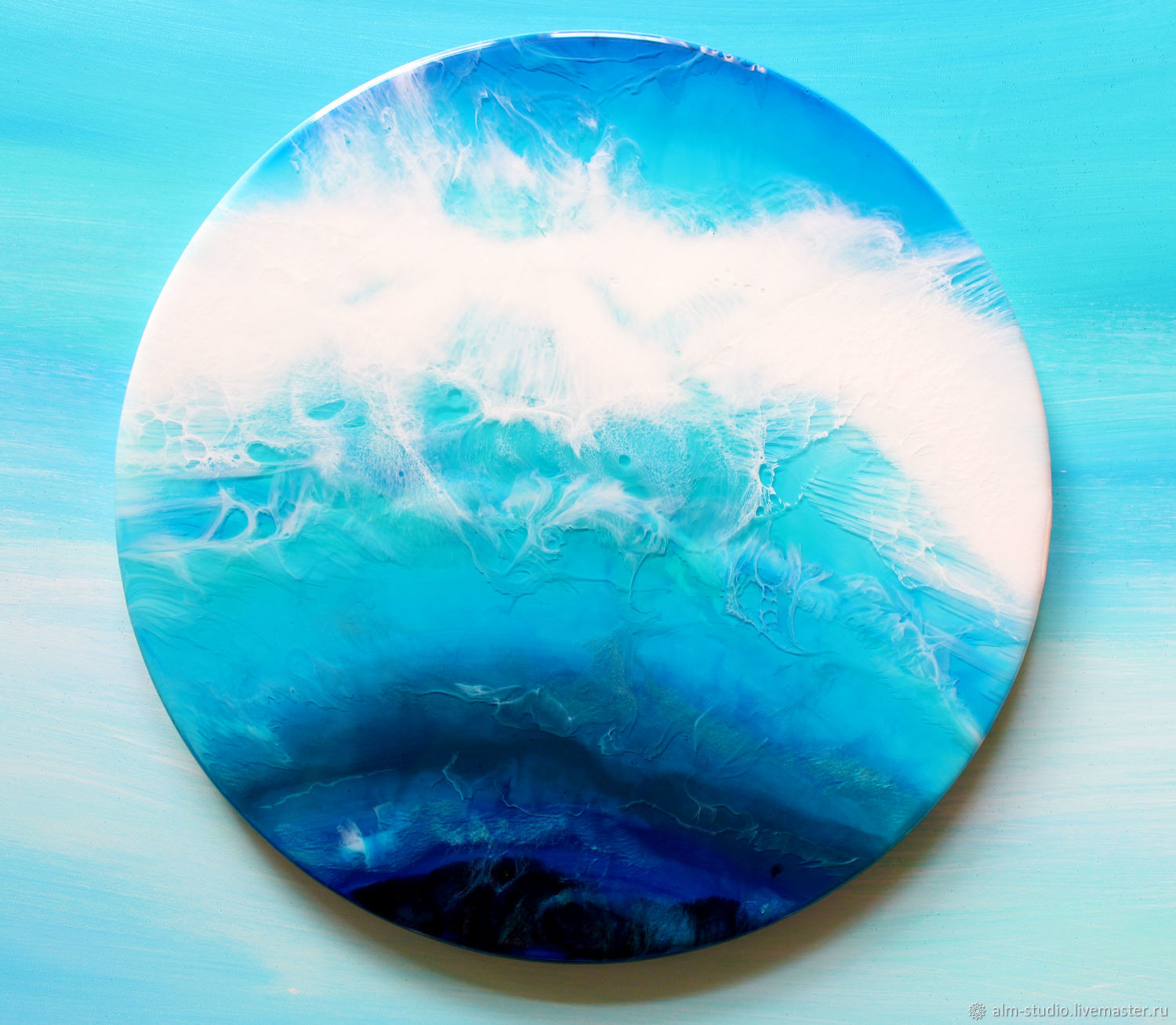 Resin painting-circle 30 cm, Pictures, Obninsk,  Фото №1