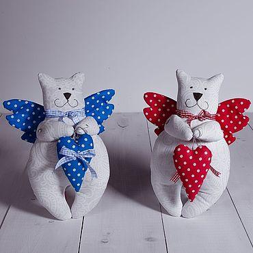 Текстильная игрушка Влюблённый котик