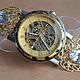"""Часы ручной работы. Ярмарка Мастеров - ручная работа. Купить Часы- скелетоны """" Драгоценное время"""" (часы наручные). Handmade."""