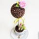 """Топиарии ручной работы. Ярмарка Мастеров - ручная работа. Купить Кофейное дерево """"розетта"""". Handmade. Кофейное дерево, Дерево счастья"""