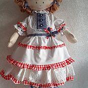 Мягкие игрушки ручной работы. Ярмарка Мастеров - ручная работа Кукла текстильная. Handmade.