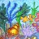 Животные ручной работы. В морских глубинах. Шелковая радуга Натальи Никифоровой. Интернет-магазин Ярмарка Мастеров. Роспись по ткани