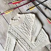 handmade. Livemaster - original item Verona merino sweater cream. Handmade.