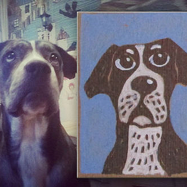 Дизайн и реклама manualidades. Livemaster - hecho a mano Retrato de un hombre o de una mascota de fotos por encargo. Handmade.