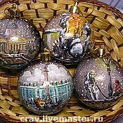 Подарки к праздникам ручной работы. Ярмарка Мастеров - ручная работа шарики с ПИТЕРОМ. Handmade.