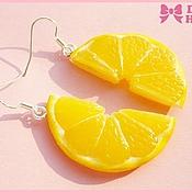 """Украшения ручной работы. Ярмарка Мастеров - ручная работа Серьги """"Sweet Lemon"""". Handmade."""