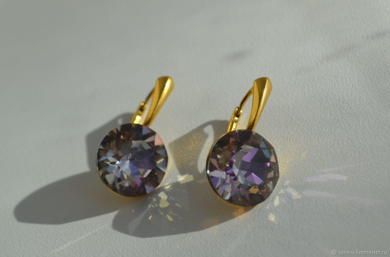 Серьги с кристаллами Swarovski Crystal 13 мм, Серьги классические, Пушкин,  Фото №1