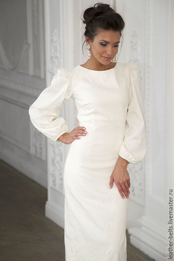 881aa40caf2 Платья ручной работы. Ярмарка Мастеров - ручная работа. Купить Свадебное  платье с пышными рукавами ...
