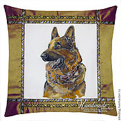 Для дома и интерьера handmade. Livemaster - original item Cushion batik