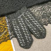 Аксессуары handmade. Livemaster - original item Mittens: handmade knitted, black, 381. Handmade.