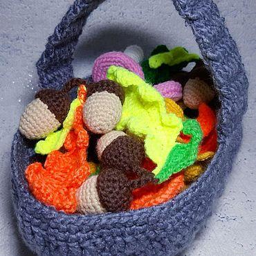 Куклы и игрушки ручной работы. Ярмарка Мастеров - ручная работа Осенняя корзинка. Handmade.