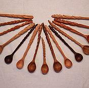 Ложки ручной работы. Ярмарка Мастеров - ручная работа Ложки деревянные резные для специй. Handmade.