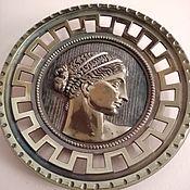 Винтаж handmade. Livemaster - original item A pair of gorgeous bronze plates. Handmade.