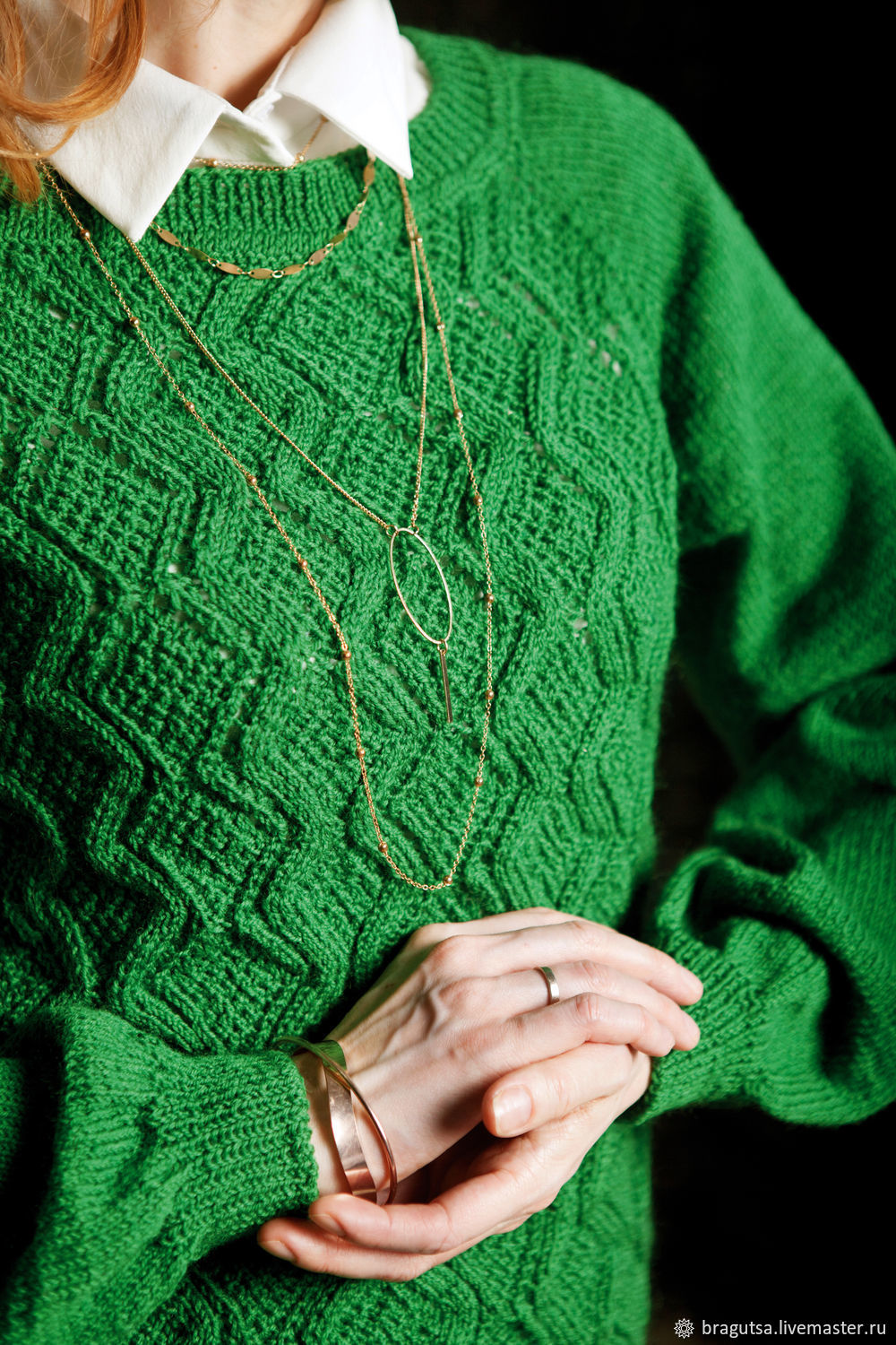 GREEN LUX sweater HANDMADE, Sweaters, Moscow,  Фото №1