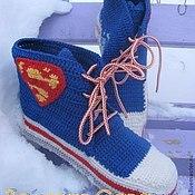 Обувь ручной работы. Ярмарка Мастеров - ручная работа Кеды вязаные Superman. Handmade.