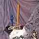 Эзотерические аксессуары ручной работы. Ярмарка Мастеров - ручная работа. Купить Свеча для общения с духами. Handmade. Восковая свеча