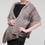 Аксессуары handmade. Livemaster - original item Tippet from knitted mink