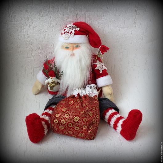 Ароматизированные куклы ручной работы. Ярмарка Мастеров - ручная работа. Купить Санта Клаус. Handmade. Ярко-красный, подарок, флис