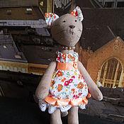 Куклы и игрушки ручной работы. Ярмарка Мастеров - ручная работа Кошка в стиле Тильда. Handmade.