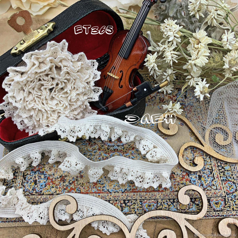 25 р/м Хлопковая кружевная резинка ЕТ365, Кружево, Калининград,  Фото №1