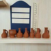 Куклы и игрушки ручной работы. Ярмарка Мастеров - ручная работа Керамика кувшины до 5, 5 см. Handmade.