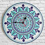 Для дома и интерьера handmade. Livemaster - original item Hand-painted Mandala Clock (4 sizes). Handmade.