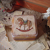 """Для дома и интерьера ручной работы. Ярмарка Мастеров - ручная работа """"Детство"""" - шкатулочка для сладостей. Handmade."""