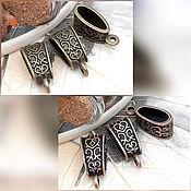 Материалы для творчества handmade. Livemaster - original item Bails for pendants and pendants antique COPPER, BRONZE (art. 1370). Handmade.