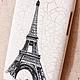 """Для телефонов ручной работы. Чехол для телефона """"Париж""""   ( и еще несколько). Easycrafts. Интернет-магазин Ярмарка Мастеров. Белый, пластик"""