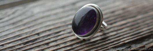 Винтажные украшения. Ярмарка Мастеров - ручная работа. Купить Серебряное кольцо с аметистом Фиолетовая тайна. Handmade. Тёмно-фиолетовый
