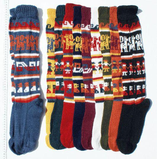 Носки, Чулки ручной работы. Ярмарка Мастеров - ручная работа. Купить Гольфы из шерсти альпаки различных цветов, связаны вручную. Handmade.