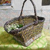 Для дома и интерьера handmade. Livemaster - original item wicker basket with handle. Handmade.