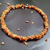 Работы для детей, handmade. Livemaster - original item Natural amber beads, necklaces, healing beads, non-polished amber. Handmade.