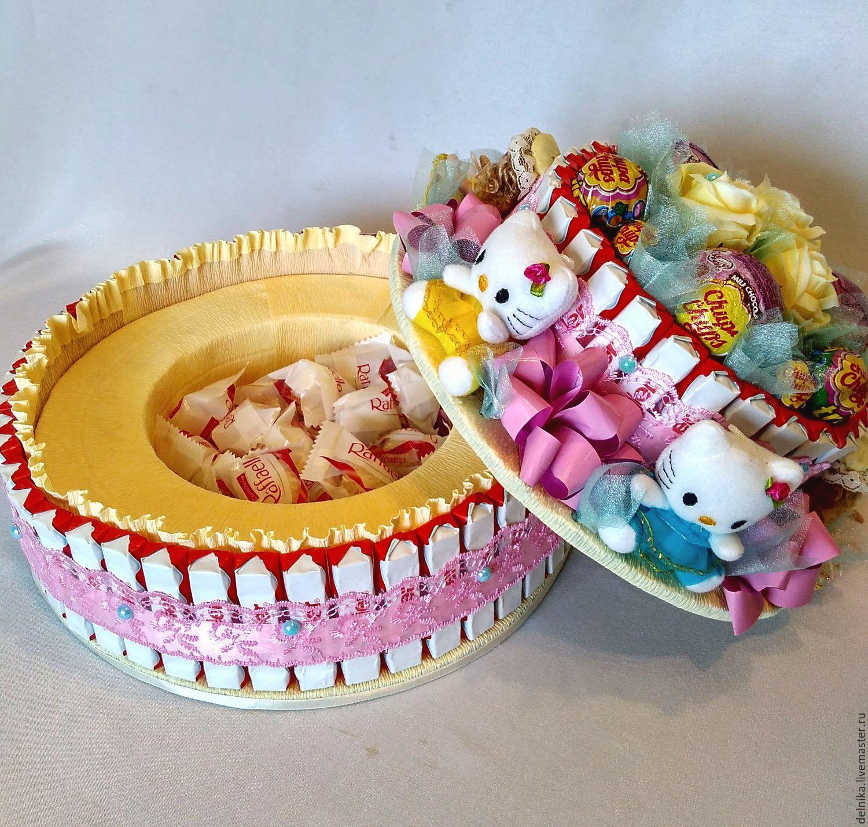 Подарок девочке на день рождения из конфет
