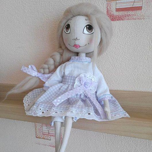 Куклы тыквоголовки ручной работы. Ярмарка Мастеров - ручная работа. Купить Кукла Лиза. Handmade. Сиреневый, тыквоголовка, кукла текстильная