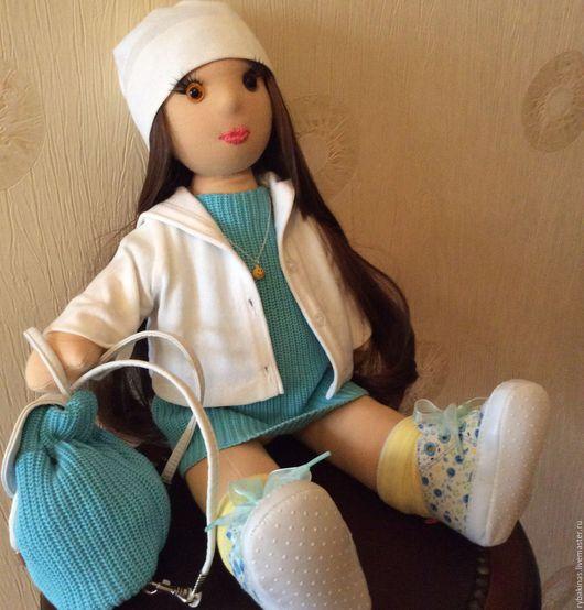 Коллекционные куклы ручной работы. Ярмарка Мастеров - ручная работа. Купить Кукла текстильная Настя. Handmade. Кукла ручной работы