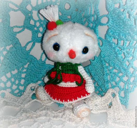 Игрушка снеговик девочка