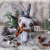 Куклы и игрушки ручной работы. Ярмарка Мастеров - ручная работа Еловый Снеговик. Handmade.