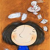 """Картины ручной работы. Ярмарка Мастеров - ручная работа Картина """"Мечтай, я записываю"""". Handmade."""